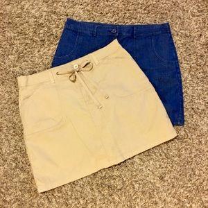 Women's Short/Skirt(Skort) Sz12 (2 Pair)